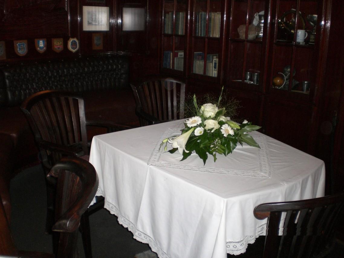 Der Kapitänssalon ist offizieller Trauraum des Stralsunder Standesamtes.